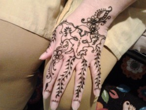bridal henna wedding hand art